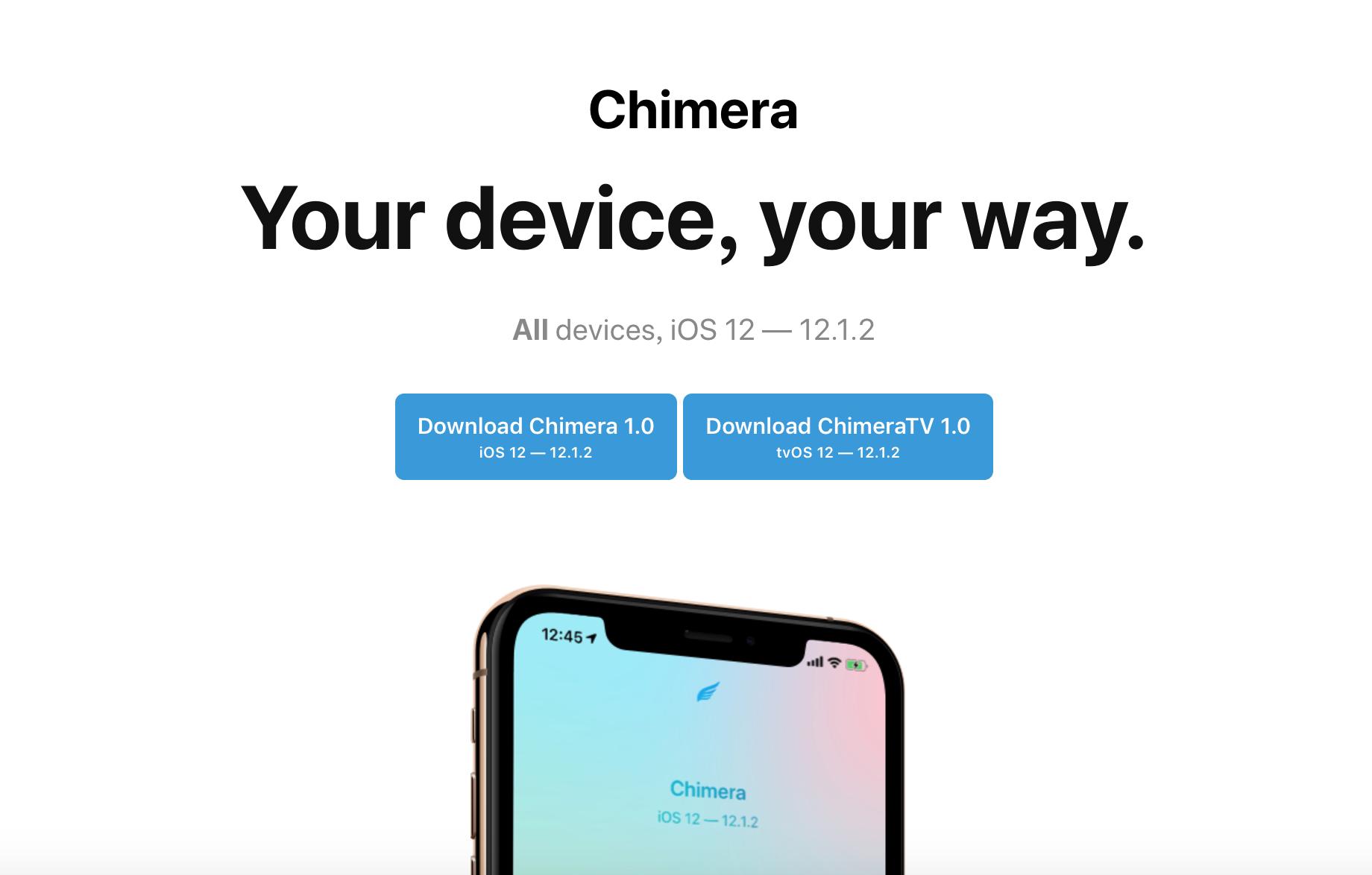 Chimera越狱工具发布,支持iOS12~iOS12.1.2 全体设备包括A12 Xs XsMax Xr